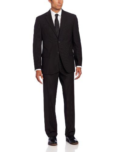 Geoffrey Beene Mens Suit - Geoffrey Beene Men's 2 Button Suit, Black, 42 Short