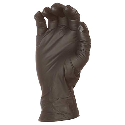 AmazonBasics Powder Free Disposable Nitrile Gloves, 6 mil, Black, Size XXL, 90 per Pack, 10-Pack by AmazonBasics (Image #5)