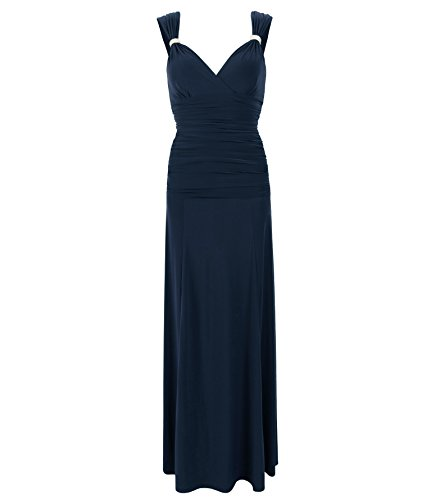 Blue Diamant Maxi Blau Marine Kleid Banana RgRSYrW0