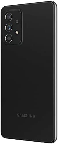 """Samsung Galaxy A52 (128GB, 6GB) 6.5"""" Super AMOLED 90Hz Display, 64MP Quad Camera, All Day Battery, Dual SIM GSM Unlocked (US + Global) 4G Volte A525M/DS (Fast Car Charger Bundle, Awesome Black)"""