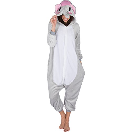 Emolly Fashion Adult Elephant Animal Onesie Costume Pajamas for Adults and Teens