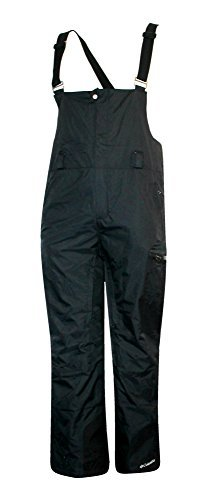 Bibs Snowboard - Columbia Men's Haskill Mountain BIB Ski Snowboard OMNI HEAT Pants Black (M)