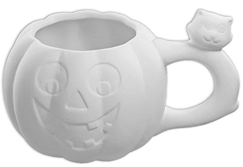 Jack-O-Lantern & Friend Mug - Paint Your Own Ceramic Keepsake by New Hampshire Craftworks