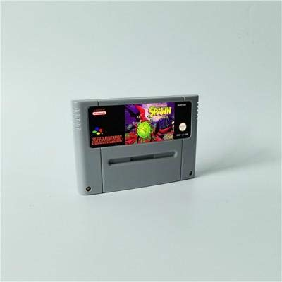 (Game card Spawn The Video Game - Action Game Cartridge EUR Version ,Game Cartridge 16 Bit SNES , cartridge snes , cartridge super)