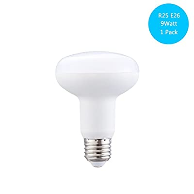 BR25 Dimmable LED Bulb, 9W ( 90W Equivalent ), R25 Wide Flood Light Bulb, 900lumen, 120° Beam Angle, E26 Medium Screw Base, 120 Volt Indoor/Outdoor