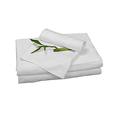 100% Bamboo Rayon Sheet Sets by BedVoyage the Eco Resort Linen Collection is Spa and Resort Luxury in Your Own Bedroom (Queen, White)