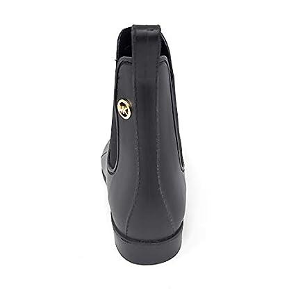 Michael Kors Women's Charm Gore Rainbootie,Black, PVC,Size 8 4