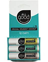 All Good Natural SPF 15 Lip Balm for Soft Smooth Lips - With Calendula, Lavender, Olive Oil, Beeswax, Vitamin E | Zinc Oxide...