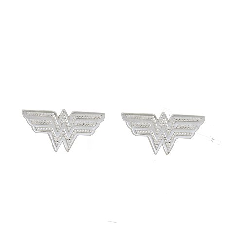 DC Comics Women's and Girls Jewelry Wonder Women Sterling Silver - Earrings Wonder Woman