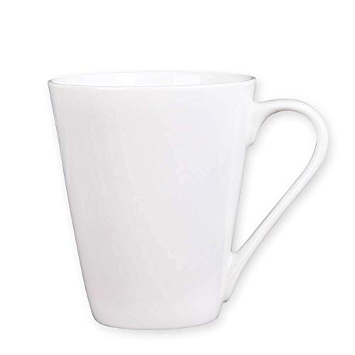 (Coffee Mug Simple Pure White Large Ceramic Coffee Milk Cup Porcelain Mugs (White, 1))