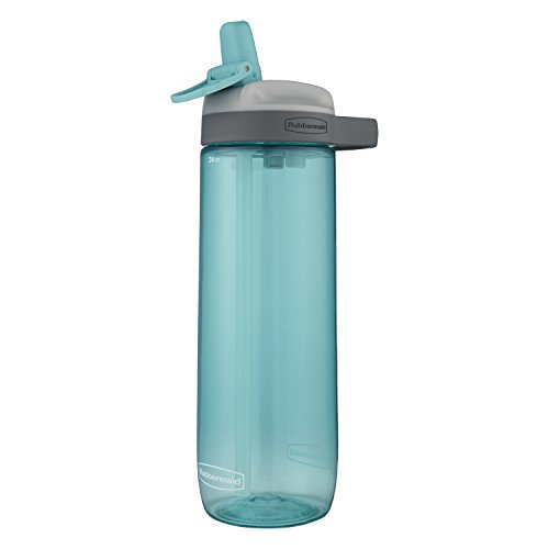 Rubbermaid Leak-Proof Sip Water Bottle, 24 oz, Aqua Waters