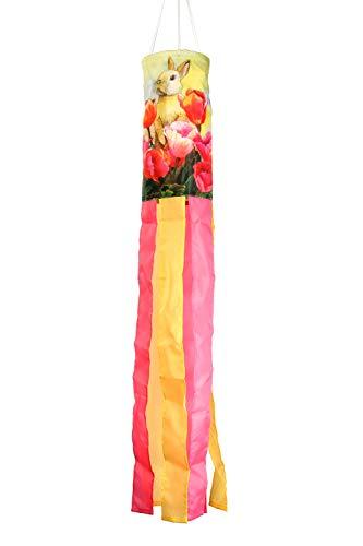 Toland Home Garden 162511 Bunny Tulip Decorative Windsock, Multicolor