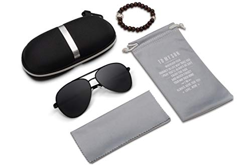 Personalized Custom Aviator Sunglasses gifts for Husband and Son,Lightweight Rectangular Polarized Sunglasses 100% UV protection (For Son From ()