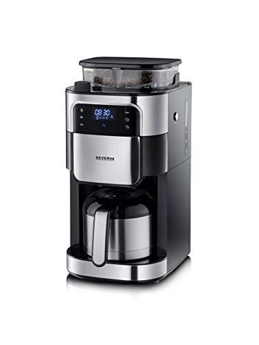 Severin KA 4814 – Cafetera de filtro con mecanismo de acero inoxidable y termo (acero inoxidable, molido fino y grado de…