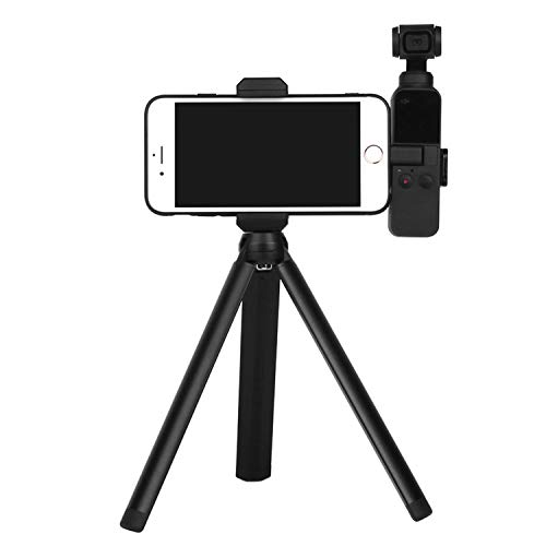 Aluminum Alloy Tripod and Handheld Phone Holder with Three 1/4 Connecting Rod & Clamp Range 2.36