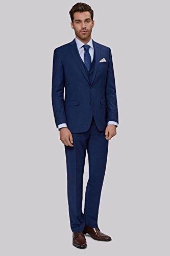 Moss 1851 Men's Performance Tailored Fit Bright Blue 3 Piece Suit ...