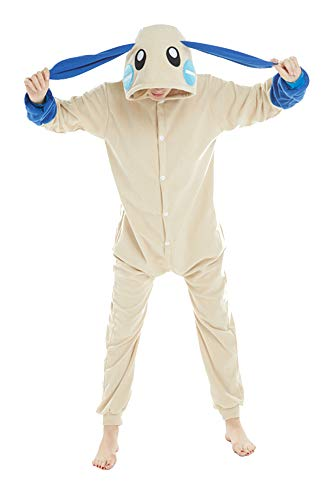Honeystore Funny Animal Pjs One Piece Halloween Cosplay Costume Pajama Sleepwear Blue Rabbit L