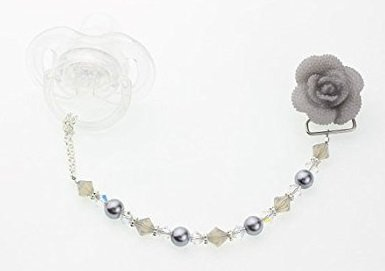 Crystal Dream Grey Swarovski Pearls and Crystals Handmade Fl