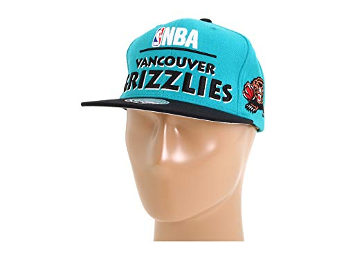 (NBA Mitchell & Ness Vancouver Grizzlies Hardwood Classics Media Day Snapback Hat - Teal )
