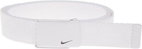 Nike Women's Tech Essentials Single Web Belt, White, One - Belt Web White