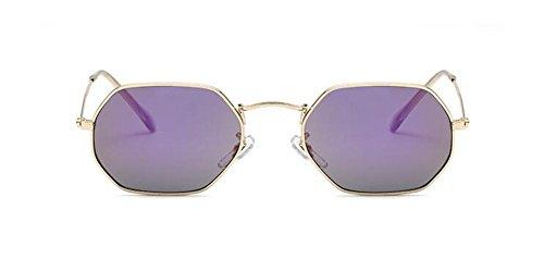 style métallique inspirées vintage Mercure cercle de en du polarisées Lennon Pourpre retro lunettes soleil rond BPXxTBg