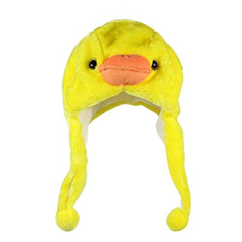 NYKKOLA Plush Faux Fur Animal Critter Hat Cap,