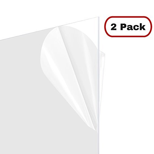 Master Cover Sheet for Poster Frames, 24x36 Inch Clear Plastic, 2 Pack