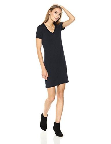 Daily Ritual Women's Jersey Short-Sleeve V-Neck T-Shirt Dress, Navy, S