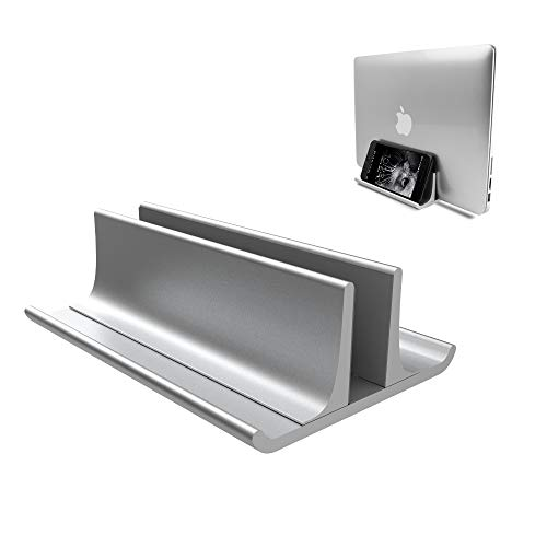 Vertical Laptop Stand Holder Adjustable Desktop Notebook Dock Space-Saving Three-in-one for All MacBook Pro Air, Mac,HP, Dell, Microsoft Surface,Lenovo, up to 17.3 inch Silver......
