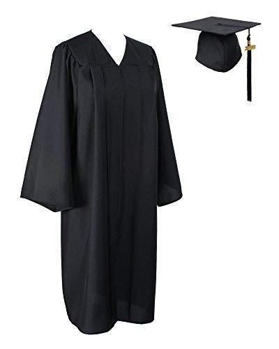 MyGradDay Matte Graduation Gown, Cap with Tassel 2017 Black -