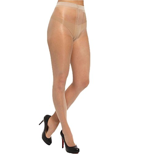 - HUE Clear Control Pantyhose with Control Top Natural 2