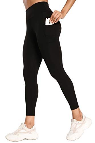 Women High Waisted Athletic Yoga Leggings - Buttery Soft Tummy Control Butt Lift 4-Way Stretch Seamless Tights