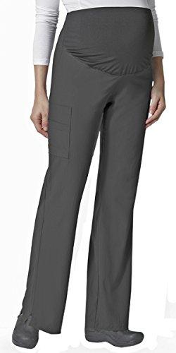 Pant Flare Maternity Scrubs (Wonderwink Women's Maternity Flare Cargo Scrub Pants 33-36