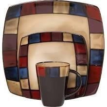 Gibson Soho Lounge Mosaic 16 Piece Dinnerware Set ()
