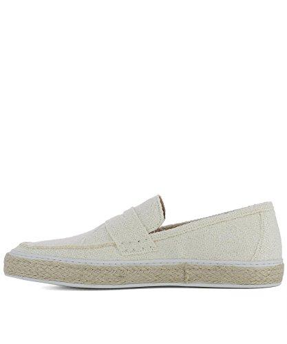 Lardini Herren Eesnk4ee50230110tc Weiss Stoff Slip On Sneakers