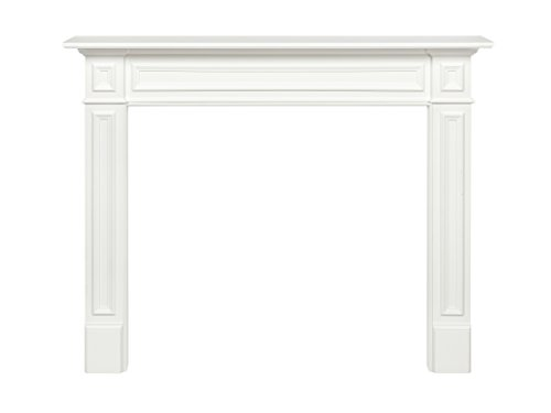 Pearl Mantels 52548 Mike Fireplace Mantel Surround MDF 48Inch White 48 Inch