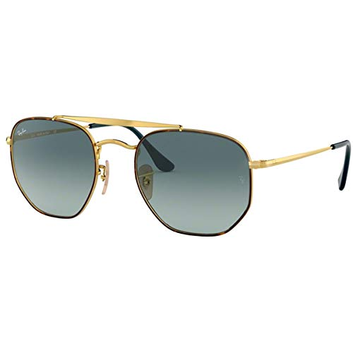 Ray-Ban RB3648 The Marshal Square Sunglasses, Tortoise/Blue Gradient, 54 mm (Blue Gradient Ray-bans)