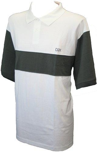 D2K Herren Poloshirt weiß weiß