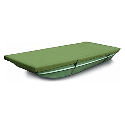 MSC 100% Polyester Jon Boat Cover, Color Olive, Water repellent, UV resistant Jon Boat Cover, Easy fit and installation