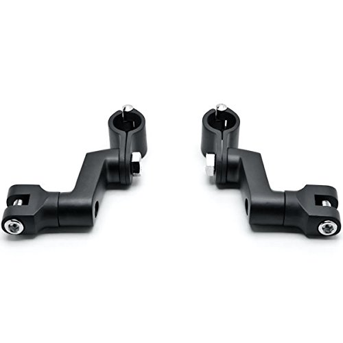 Krator Black 1'' Engine Guard Bowleg Foot Peg Clamps For Ducati Super Sport 750 800 900 1000 by Krator