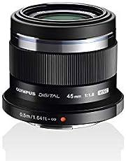 Olympus M.Zuiko Digital 45Mm F1.8 Objectief, Heldere Vaste Brandpuntsafstand, Geschikt Voor Alle Mft-Camera'S (Olympus Om-D & Pen Modellen, Panasonic G-Serie), Zwart