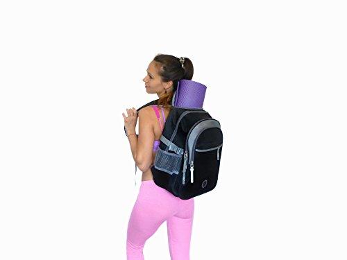 YIX Bag - Multipurpose Fitness Backpack- Yoga - Hiking (Black)