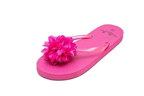 c04ee7a03 Flip Flops for Women Ladies Summer Beach Pool Shoes Flower Pattern   Amazon.co.uk  Shoes   Bags