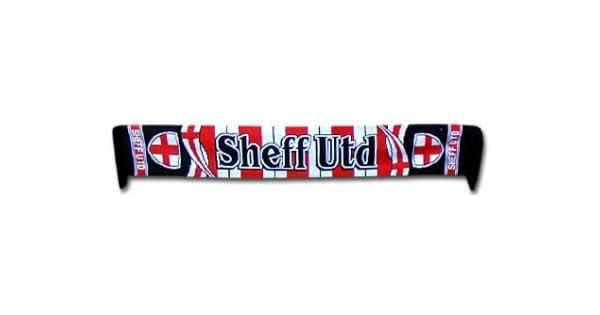 Bufanda para Aficionados al f/útbol 100/% acr/ílico Sheffield