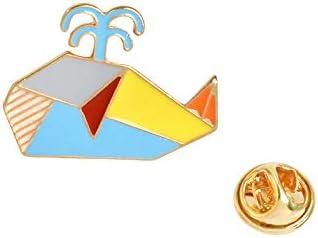 ラブリーキュートな折り紙動物のピンとブローチ象ウサギクマリスクジラ魚ペンギンフォックスデザイン動物ジュエリー