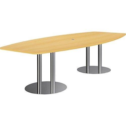 Nienhaus Konferenztisch PRO mit Säulenfüßen, 280 x 130/85 cm