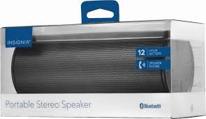 Insignia NS-SPBTWAVE2-BK Wave 2 Portable Bluetooth Speaker - Black