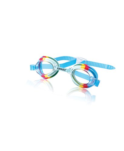 Speedo Kids' Tye Dye Swim Goggle, Rainbow Cool, One Size