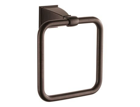 Brizo 69846 7'' Square Towel Ring from the Vesi Collection, Venetian Bronze