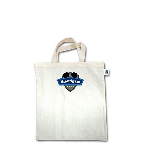 JGA Junggesellenabschied - Bräutigam Police - Unisize - Natural - XT500 - Fairtrade Henkeltasche / Jutebeutel mit kurzen Henkeln aus Bio-Baumwolle